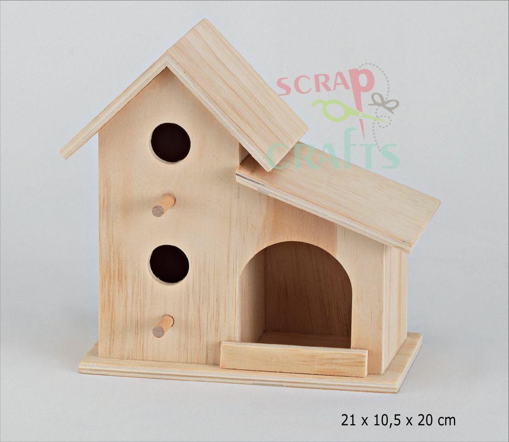 4ffbcff736b8 Υλικά DIY    Ξύλινα Decoupage    Ξύλινο σπιτάκι για πουλάκια ...