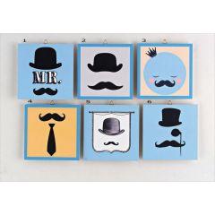 Καδράκι Moustache